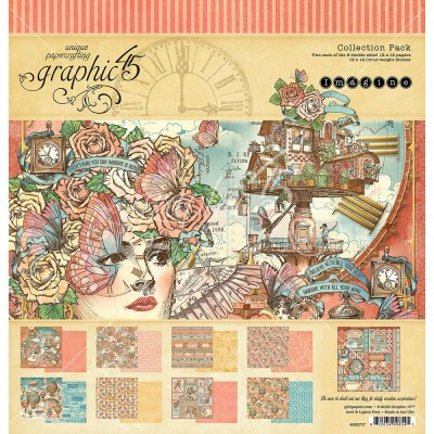 "Graphic 45 - ""Imagine"" Ensemble de papier 12"" X 12""  16 feuilles"